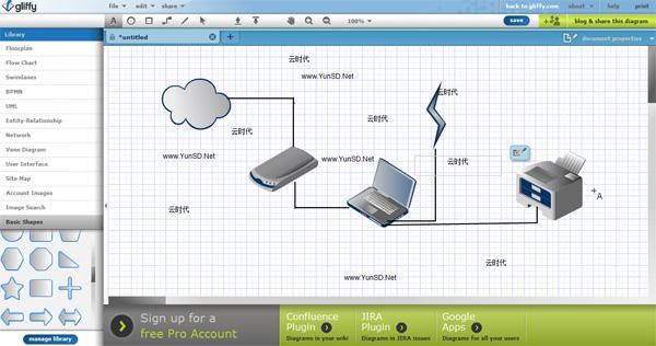 Gliffy,免费在线绘图云软件