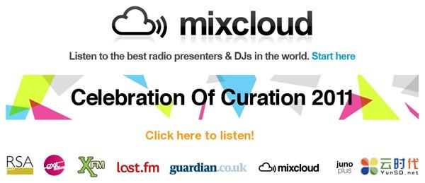 mixcloud,DJ混音分享免费云存储空间