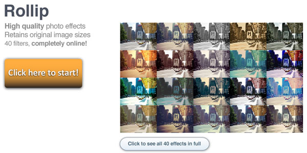 Rollip,简单在线制作LOMO风格照片