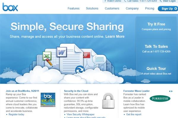 美国云存储平台Box.net获融资5000万美元
