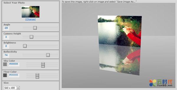 Wetfloormaker,在线制作镜面倒影图片