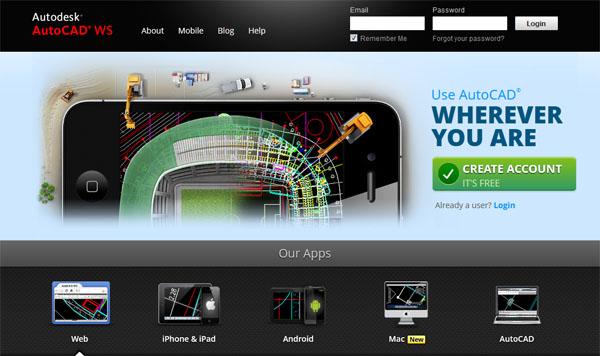 在线AutoCAD 云软件:AutoCAD WS
