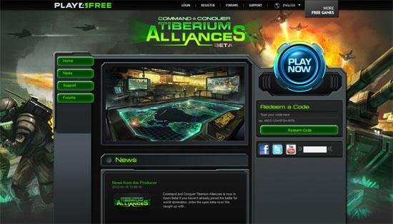 HTML5游戏:《命令与征服:泰伯利亚联盟》