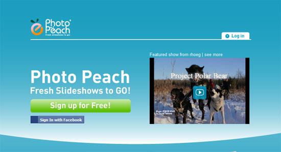 轻松在线制作音乐图片相册:Photo Peach
