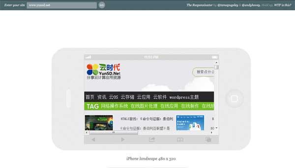 Responsinator:在线测试网页在主流移动设备显示效果