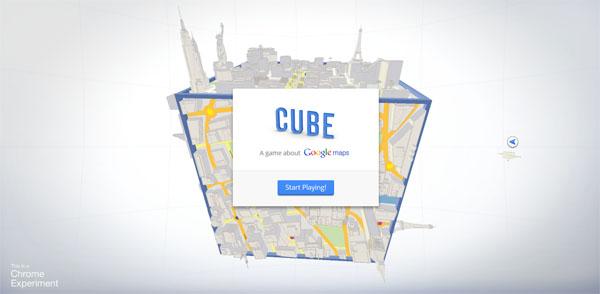 3D视觉盛宴:Cube 基于google地图的HTML5云游戏
