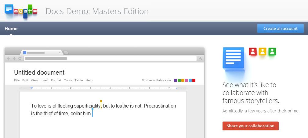 Google Docs推出创意demo,多人协作让你和狄更斯一同炮制下一部经典