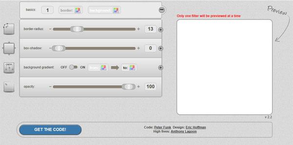 CSS3 Generator,在线生成CSS3圆角代码