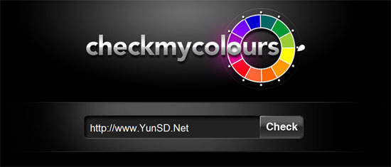 Check My Colours-在线分析对比网页颜色