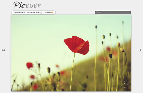 Picever:唯美音乐图片分享网站