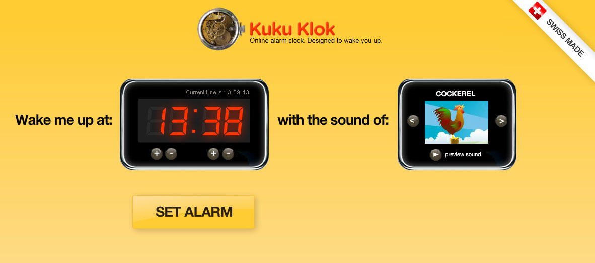 kukuklok:简单实用的在线闹钟