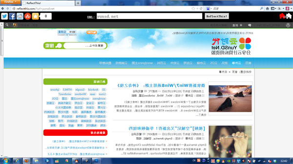 Reflectthis:有趣好玩的镜像网页,让你的网页照照镜子。