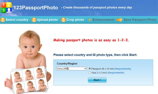 123passportphoto:免费在线制作护照照片