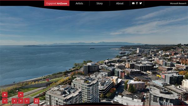微软疯狂打造20G 像素的西雅图全景照